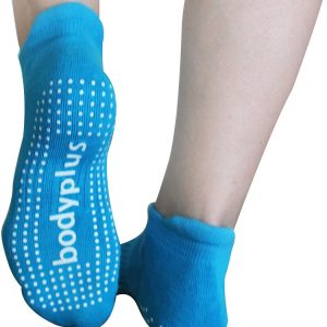 Pilates Yoga Grip Socks for Women Fits 8-10 Shoe Size – Blue