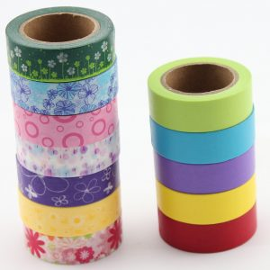 Selectors Washi Tape Set – 12 Beautiful Colored Paper Tape Rolls For Decorating