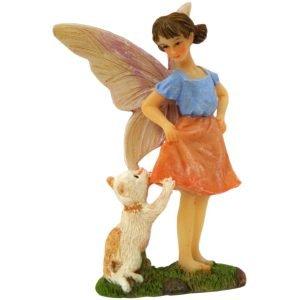 Fairy Ava and Cat - Fairy Garden Fairies