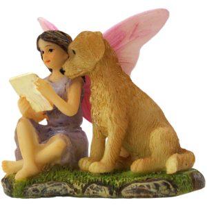 Fairy Sofia and Dog - Fairy Garden Fairies